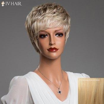 Short Layered Fluffy Neat Bang Siv Real Natural Hair Wig