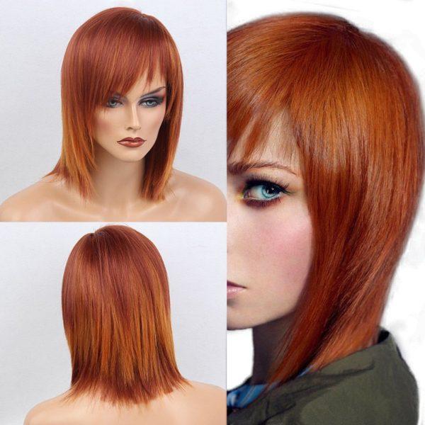 Short Straight Side Bang Bob Human Hair Wig