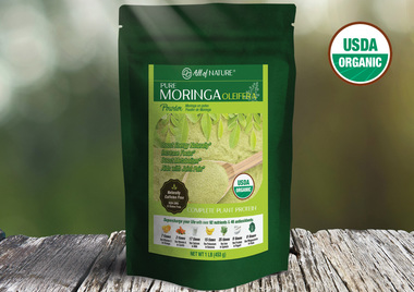 All of Nature Moringa Oleifera Natural Organic Powder 1lb / 453g