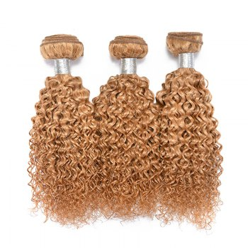 1 Pc Bouncy Brazilian 6A Virgin Kinky Curly Hair Weaves