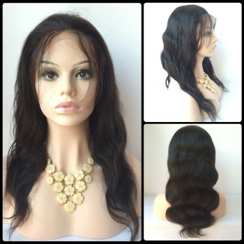 Long Faddish Side Bang Body Wave Lace Front Real Natural Hair Wig