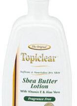 Topiclear Gold Shea Butter Fragrance Free Lotion 14 OZ