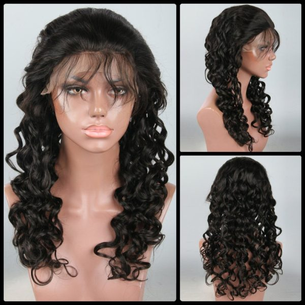 Shaggy Long Loose Wave Lace Front Human Hair Wig
