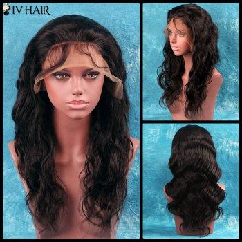 Siv Hair Side Bang Long Shaggy Wavy Full Lace 100 Percent Human Hair Wig