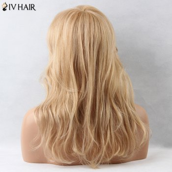 Slightly Curled Layered Long Inclined Bang Siv Human Hair Wig