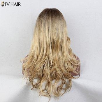 Siv Hair Long Inclined Bang Layered Wavy Colormix Human Hair Wig