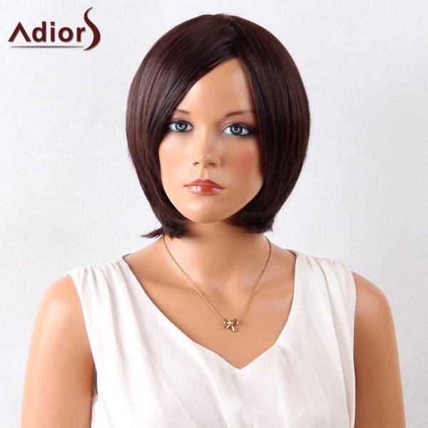 Adiors Side Bang Short Straight Bob Synthetic Wig