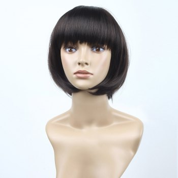 Full Bang Short Straight Bob Synthetic Wig