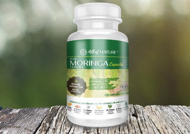 All of Nature Moringa Capsules 120ct (400mg)