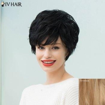Siv Hair Short Layered Curly Capless Human Hair Wig