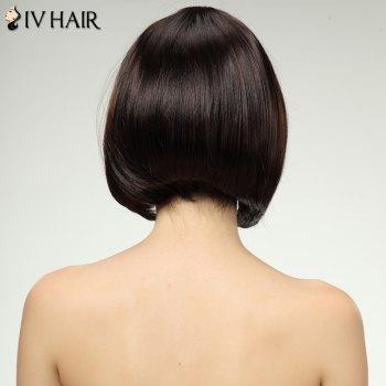 Charming Siv Hair Straight Full Bang Bobo Style Women's Human Hair Wig