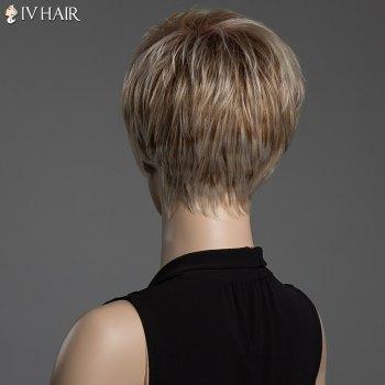 Straight Mixed Color Capless Siv Hair Short Pixie Cut Human Hair Wig