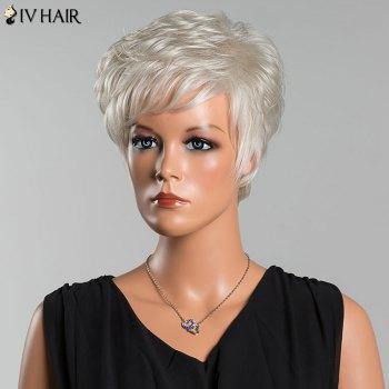 Siv Layered Short Curly Oblique Bang Human Hair Wig