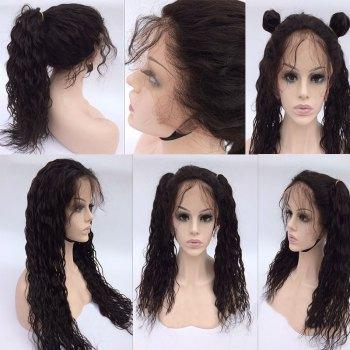 Long Free Part Natural Wave Human Hair Lace Front Wig