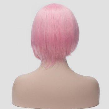 Fashion Side Bang Synthetic Bob Style Short Pink Straight Haruno Sakura Cosplay Wig