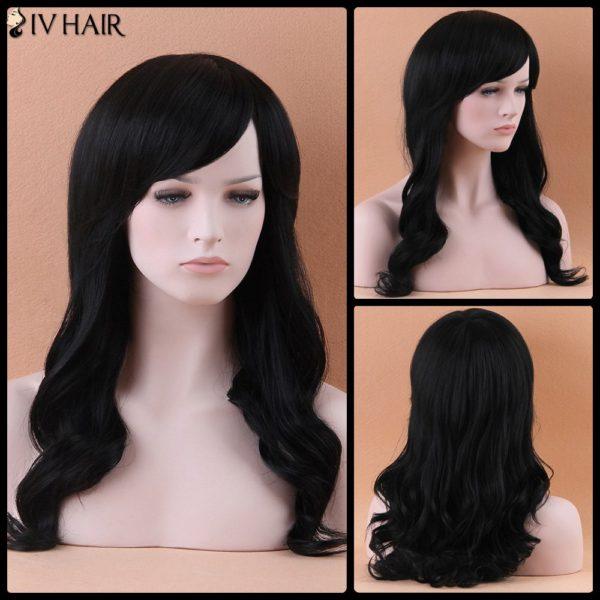 Fascinating Long Wavy Side Bang Siv Human Hair Wig