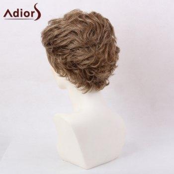 Adiors Layered Slightly Curled Side Bang Short Synthetic Hair