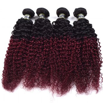 1 Pcs Ombre Color Kinky Curly 6A Virgin Brazilian Hair Weave