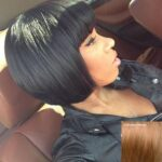 Boutique Short Full Bang Bob Style Human Hair Wig For Women