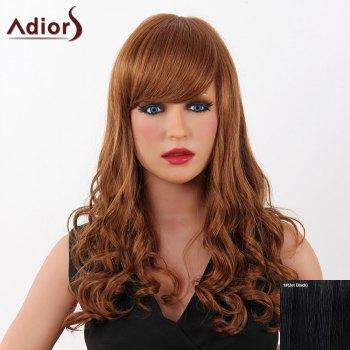 Fashion Long Adiors Capless Fluffy Wave Women's Real Human Hair Wig