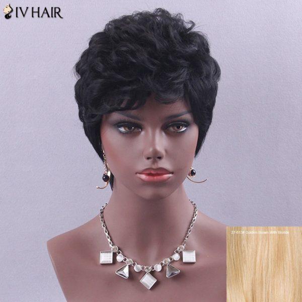 Siv Hair Short Curly Hair Style Human Hair Wig