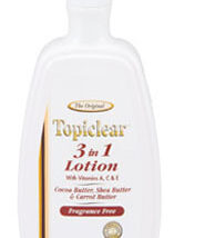 Topi Clear Three in One Fragrance Free lotion 14 OZ