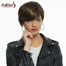 Faddish Straight Short Layered Cut Blonde Highlight Synthetic Women's Wig