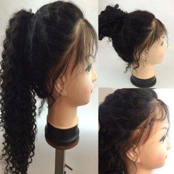 Free Part Shaggy Long Deep Curly Lace Front Human Hair Wig