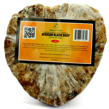 Nature Fresh African Black Soap (Heart) 6 oz / 480g