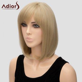 Bob Style Short Heat Resistant Fiber Noble Straight Light Blonde Capless Adiors Wig For Women