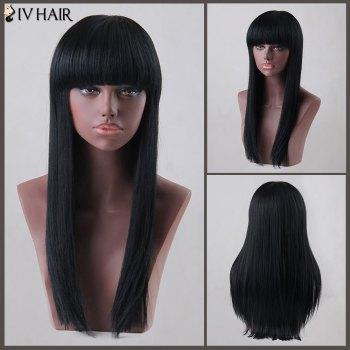 Sunny Long Neat Bang Straight Siv Human Hair Wig