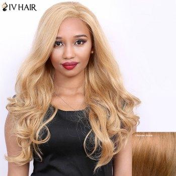 Wavy Long Side Parting Real Natural Hair Siv Wig