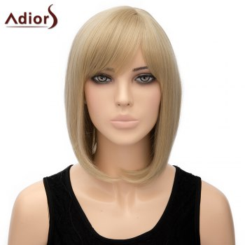 Bob Style Short Heat Resistant Fiber Noble Straight Light Blonde Capless Adiors Wig For Women