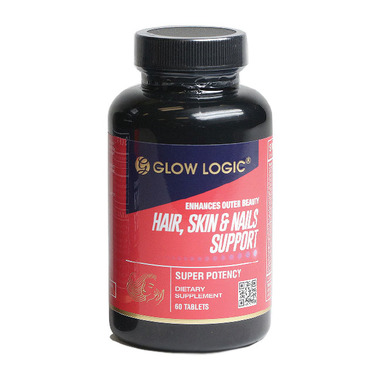 Glow Logic Hair,Skin & Nails Support/ 60 Tablets