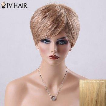 Pixie Cut Short Side Bang Straight Siv Human Hair Wig