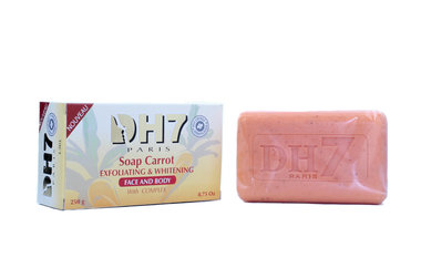 DH7 Carrot Soap Exfoliating & Whitening Face and Body 8.75oz/250g