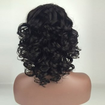 Deep Side Part Shaggy Medium Loose Wave Lace Front Human Hair Wig