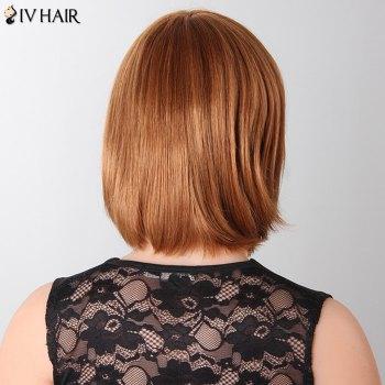 Stylish Natural Straight Bob Style Siv Hair Human Hair Women's Wig