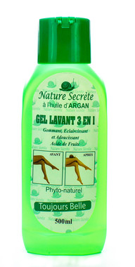 Nature Secrete Gel Lavant 3 en 1 Shower Gel 16.9 oz / 500 ml